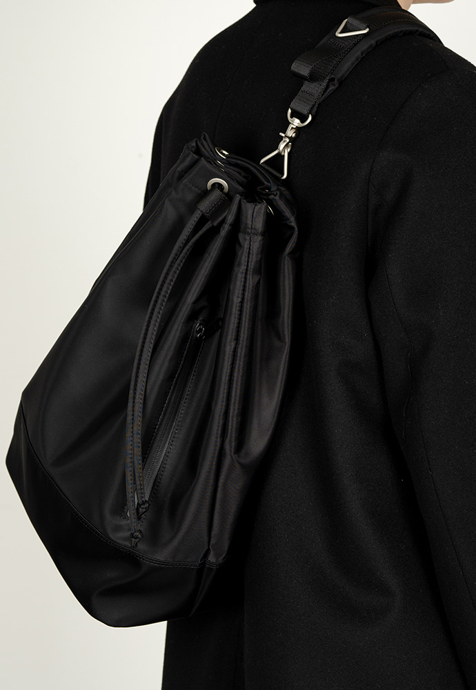 HAH ARCHIVE하 아카이브 [5차 예약배송 3/9] 2WAY WATERLOO BLACK NYLON DUFFLE BAG