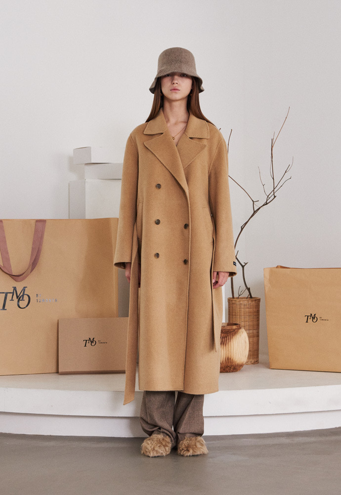 TMO BY 13Month 티엠오 바이 써틴먼스 HANDMADE LONG WOOL COAT (CAMEL)