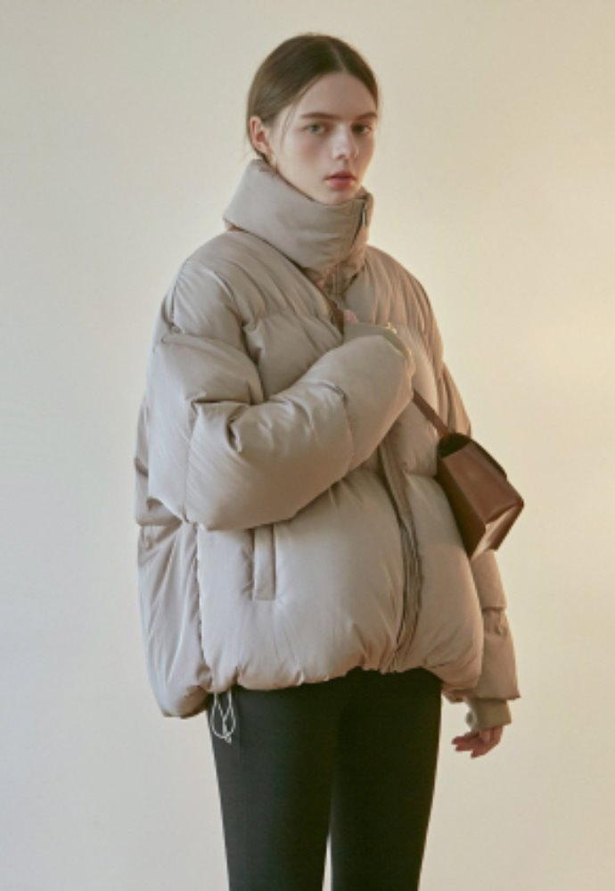 Nicknnicole닉앤니콜 ACTIVE DUCK DOWN PUFFER PADDING_BEIGE