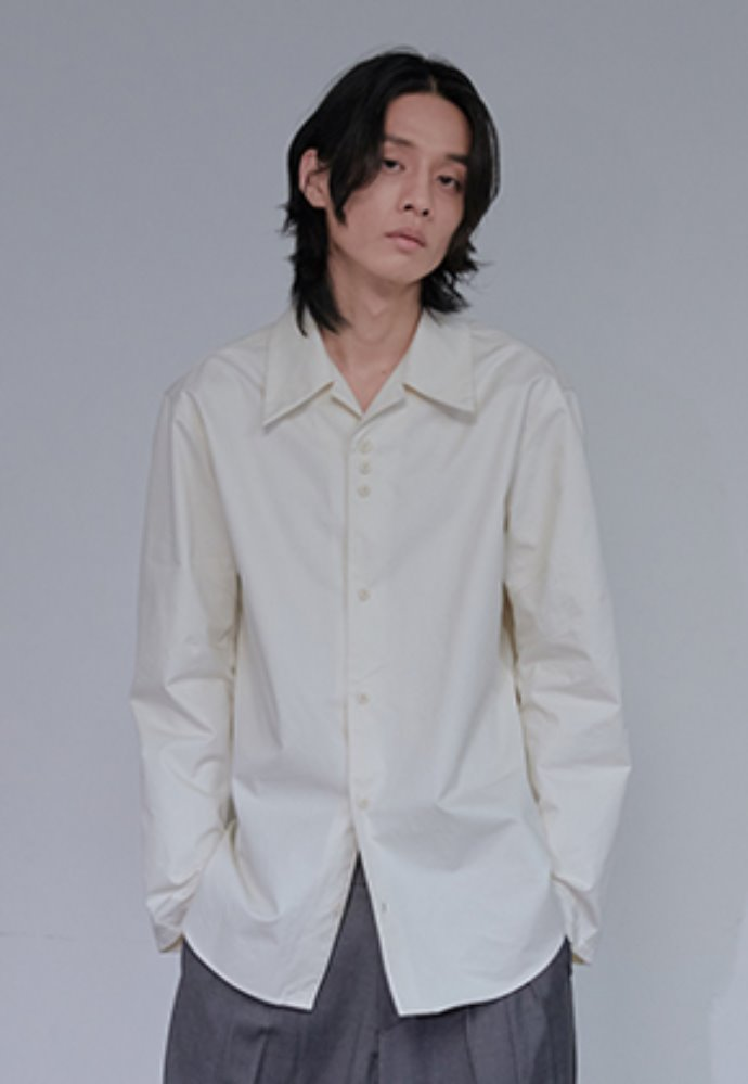XYZ UNISEX 3.1.1 WIDE COLLAR SHIRT - IVORY