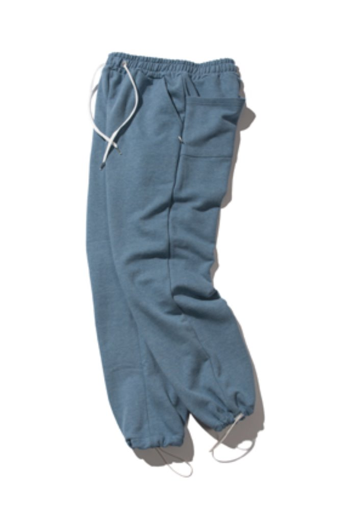 Kruchi크루치 Keyring sweat pants - (blue)