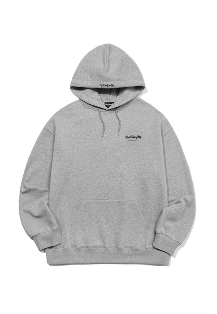 Markgonzales마크곤잘레스 M/G SMALL SIGN LOGO HOODIE GRAY 20SS