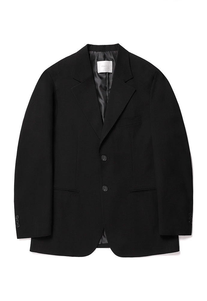 ENOU에노우 2 BUTTON JACKET[BLACK]