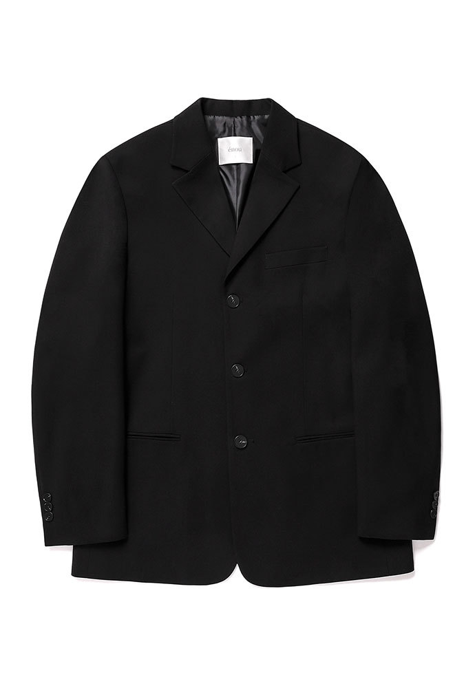 ENOU에노우 3 BUTTON JACKET[BLACK]