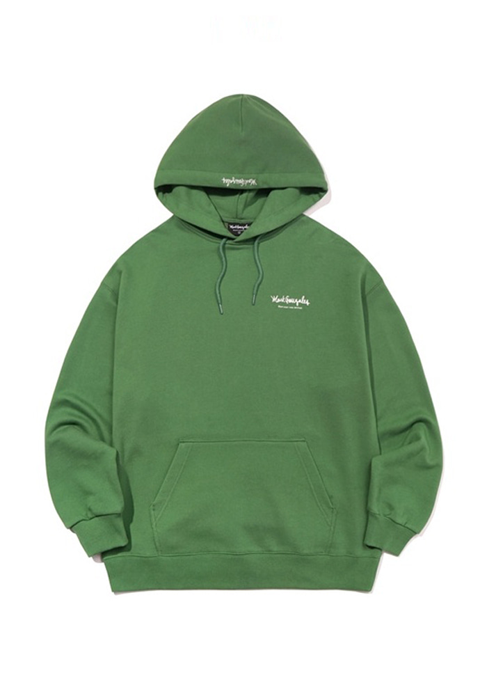 Markgonzales마크곤잘레스 M/G SMALL SIGN LOGO HOODIE OLIVE 20SS