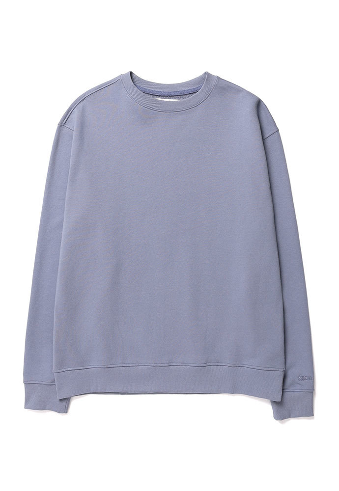 ENOU에노우 SOFT COTTON SWEATSHIRT[GREYISH BLUE]