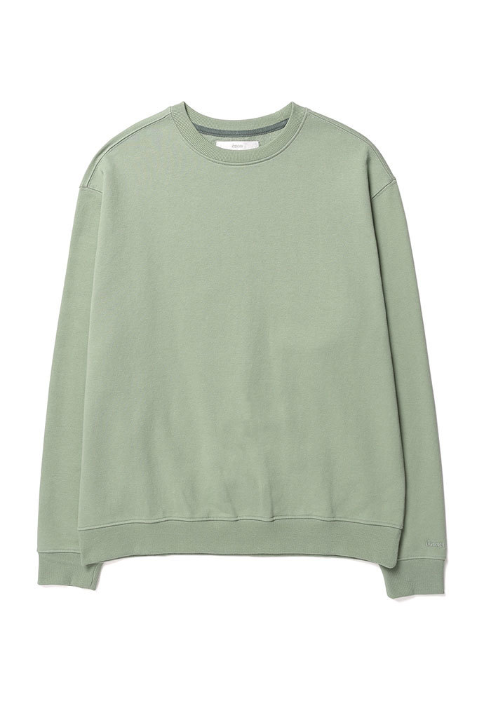 ENOU에노우 SOFT COTTON SWEATSHIRT[GREEN]