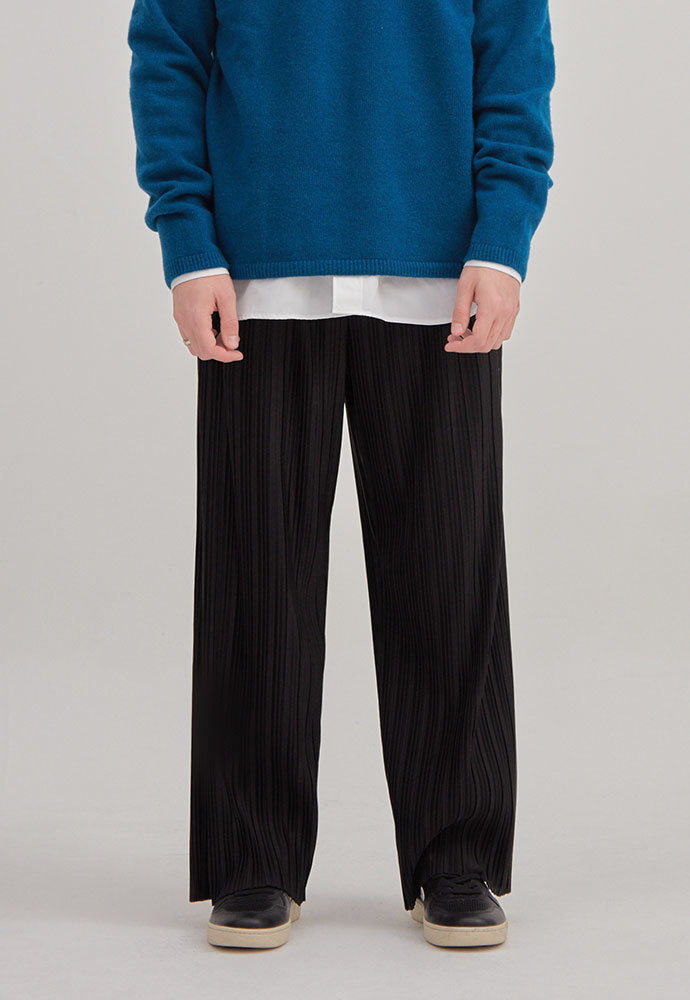 ENOU에노우 PLEATED PANTS[BLACK]