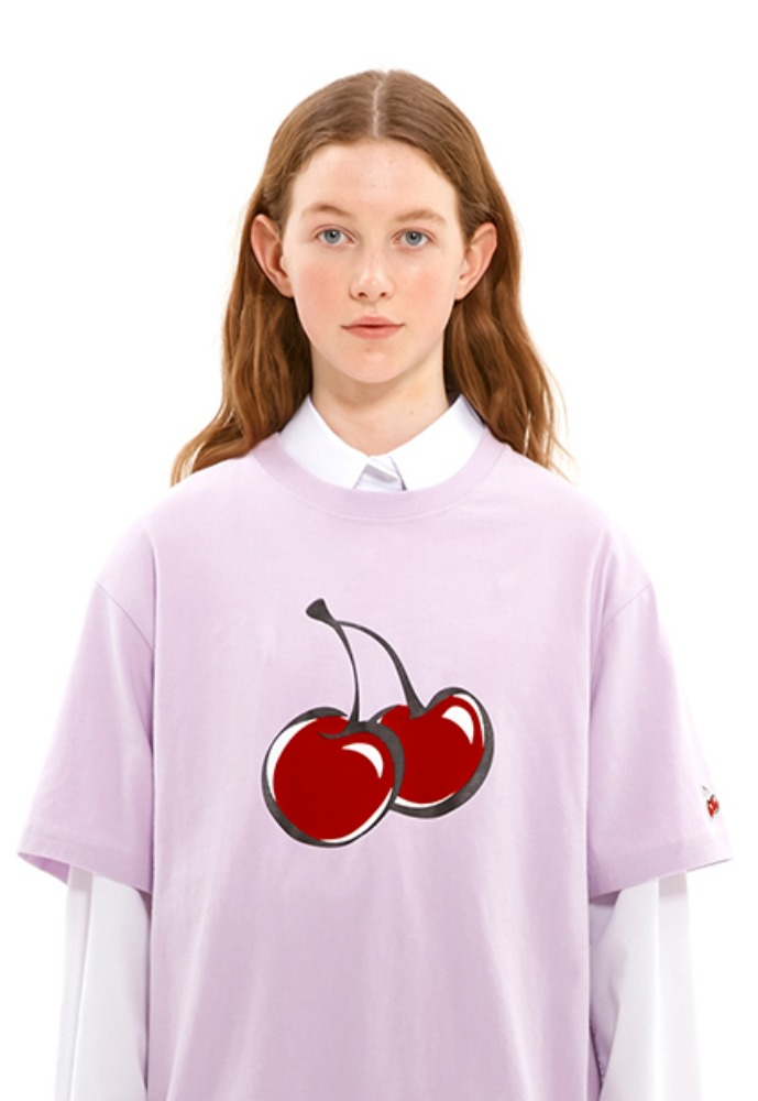 KIRSH키르시 BIG CHERRY T-SHIRTS JS [VIOLET]