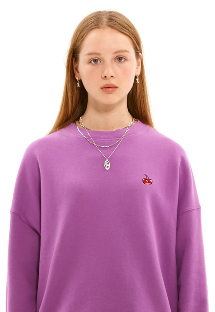 KIRSH키르시 SMALL CHERRY SWEATSHIRT JS [PURPLE]