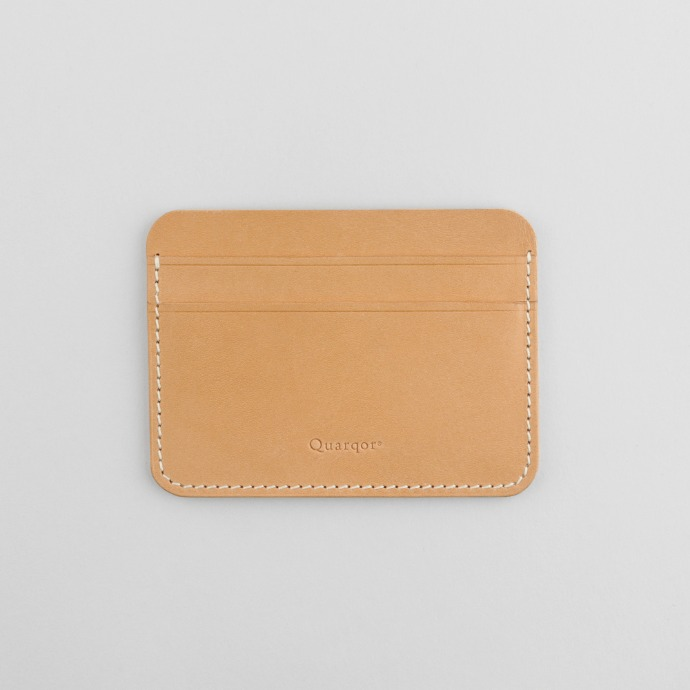 Quarqor쿼르코어 DANIEL CARD WALLET_Natural