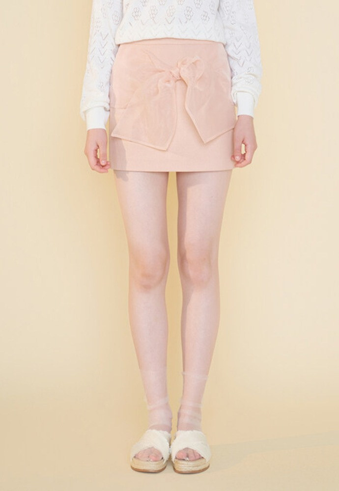 Margarin Fingers마가린핑거스 BOW MINI SKIRT