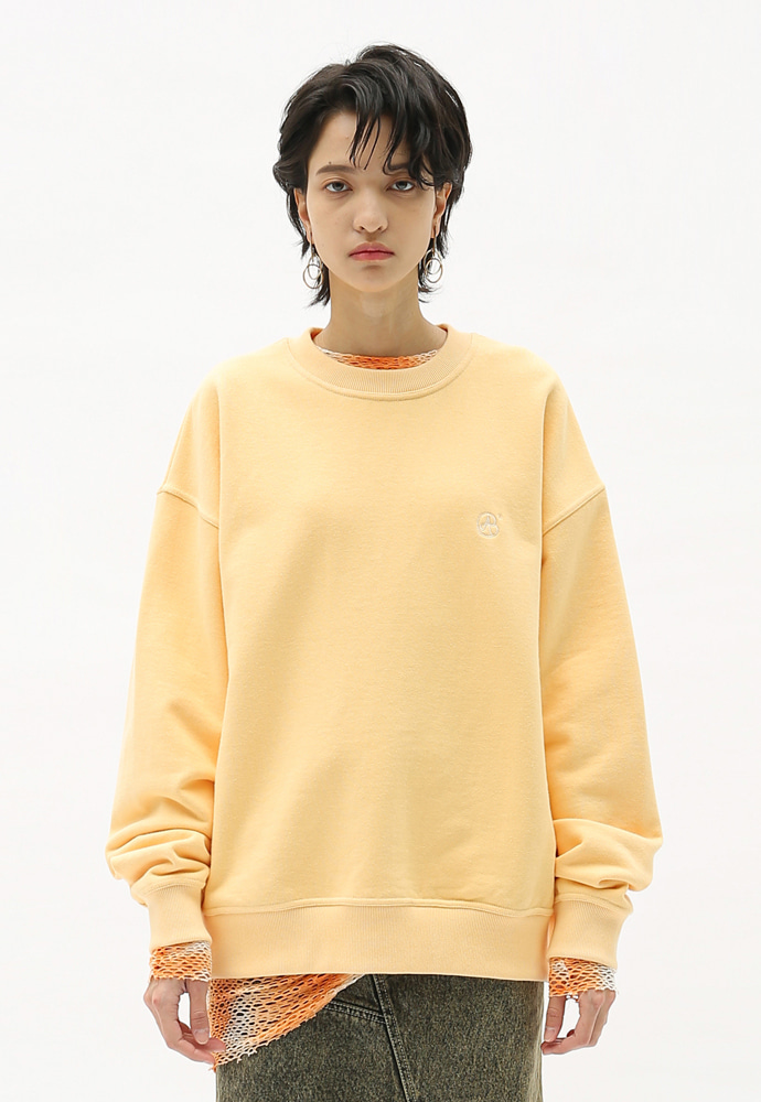 Anderssonbell앤더슨벨 UNISEX SIGNATURE EMBLEM SWEATSHIRT atb231u BLUSH CREAM