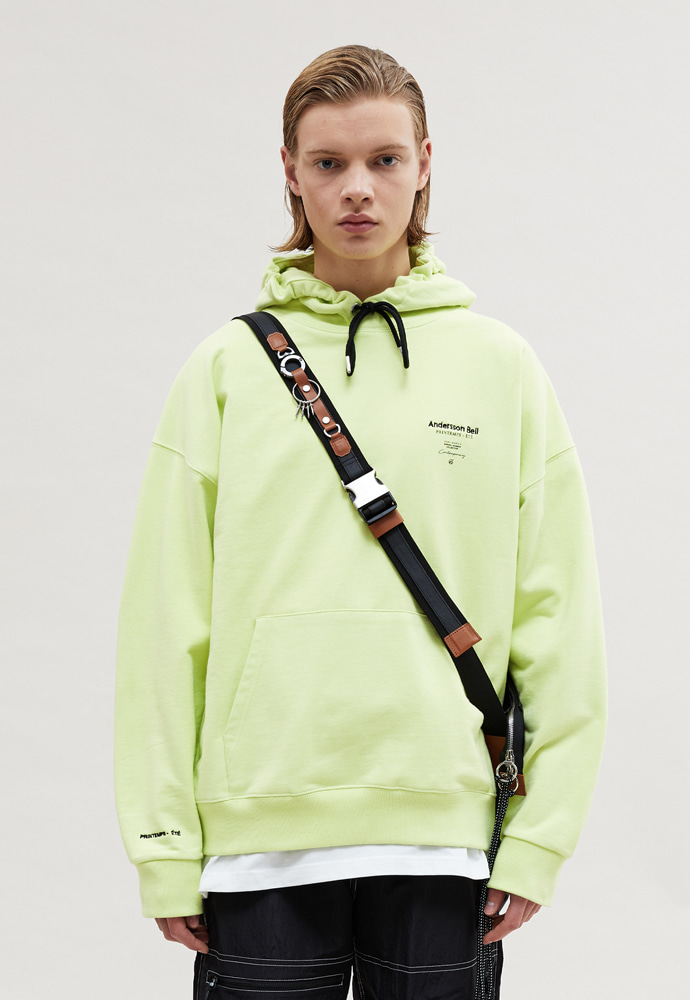 Anderssonbell앤더슨벨 UNISEX PRINTEMPS ÉTÉ SEASON HOODIE atb478u LIME GRASS