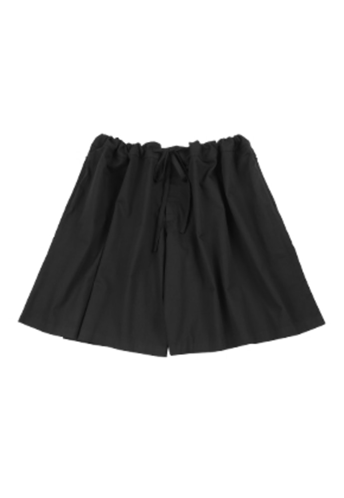 AJO BY AJO아조바이아조 Wide Skirt Pants [Black]
