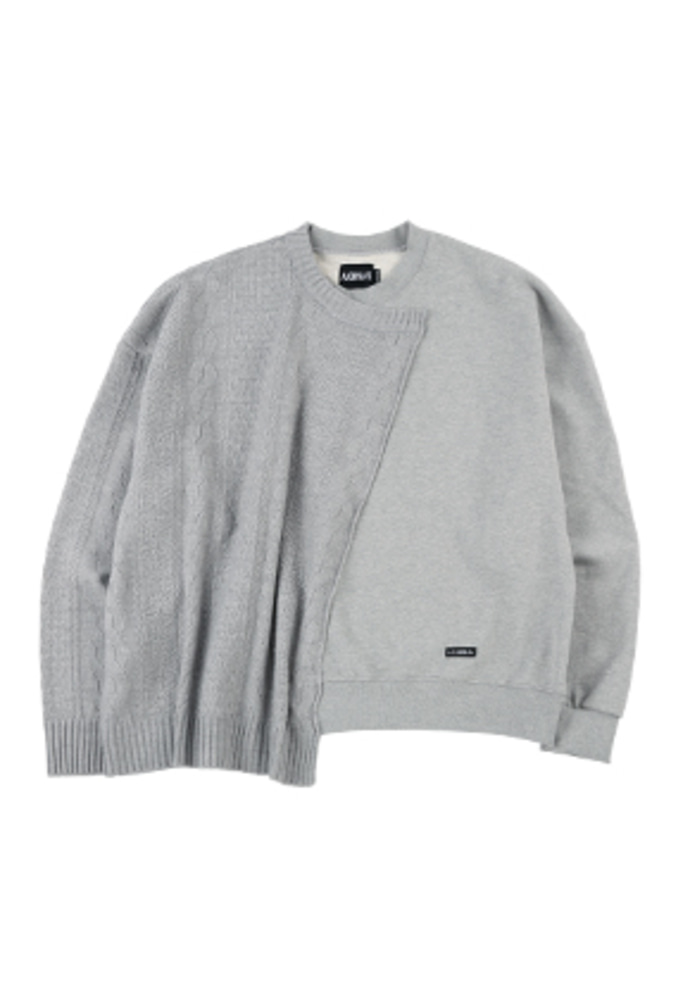 AJO BY AJO아조바이아조 Oversized Sweater and Sweatshirt [Melange Grey]