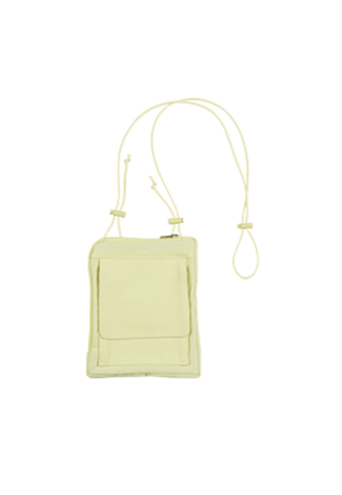 AJO BY AJO아조바이아조 Cotton Mini Bag [Lime Yellow]