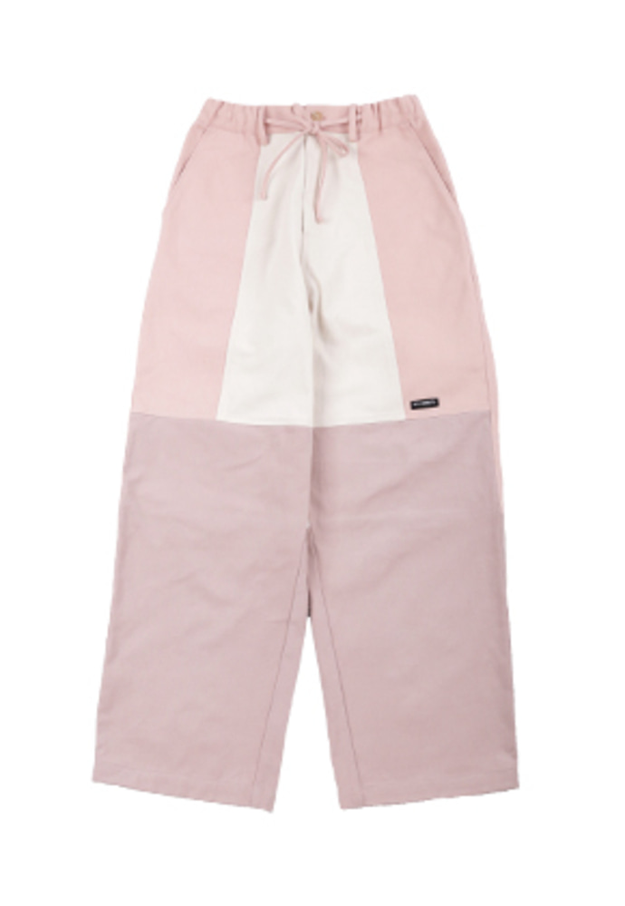 AJO BY AJO아조바이아조 Tri Mixed Cotton Pants [Pink]
