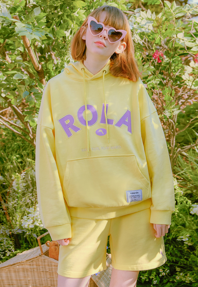 ROLAROLA로라로라 (HD-20101) ROLA SIGNATURE HOOD T-SHIRT YELLOW