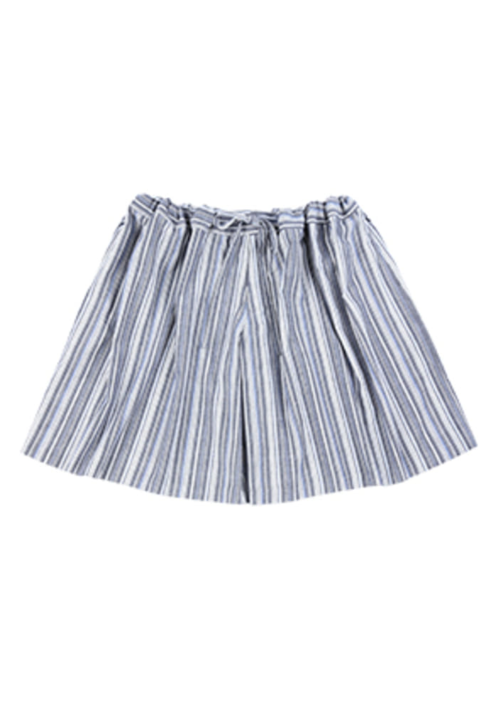 AJO BY AJO아조바이아조 Wide Stripe Skirt Pants [Blue]