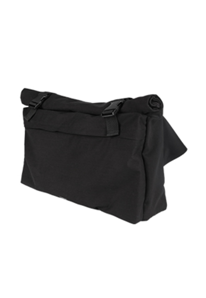AJO BY AJO아조바이아조 Oversized Cotton Messenger Bag [Black]