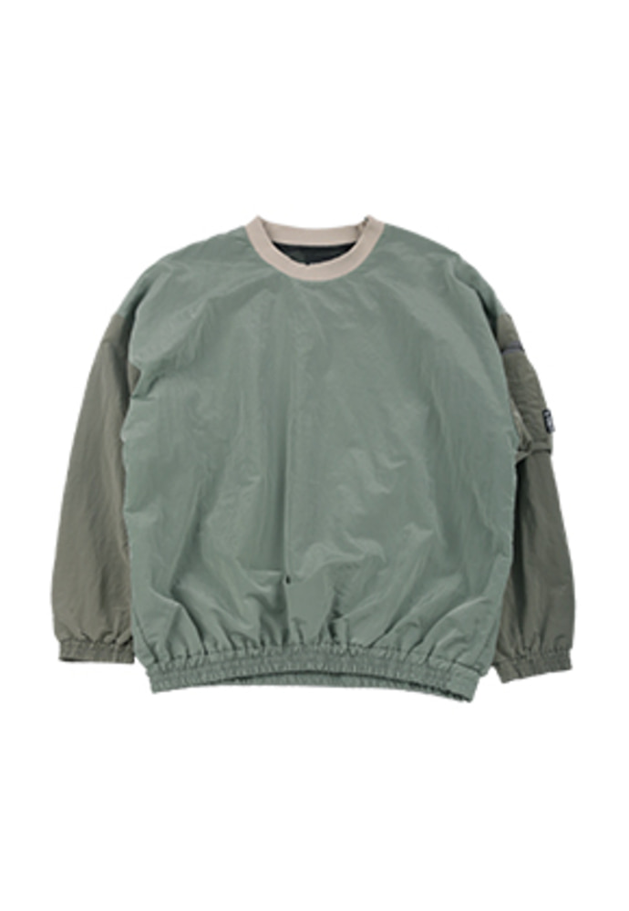 AJO BY AJO아조바이아조 Oversized Bomber Nylon Sweatshirt [Mint]
