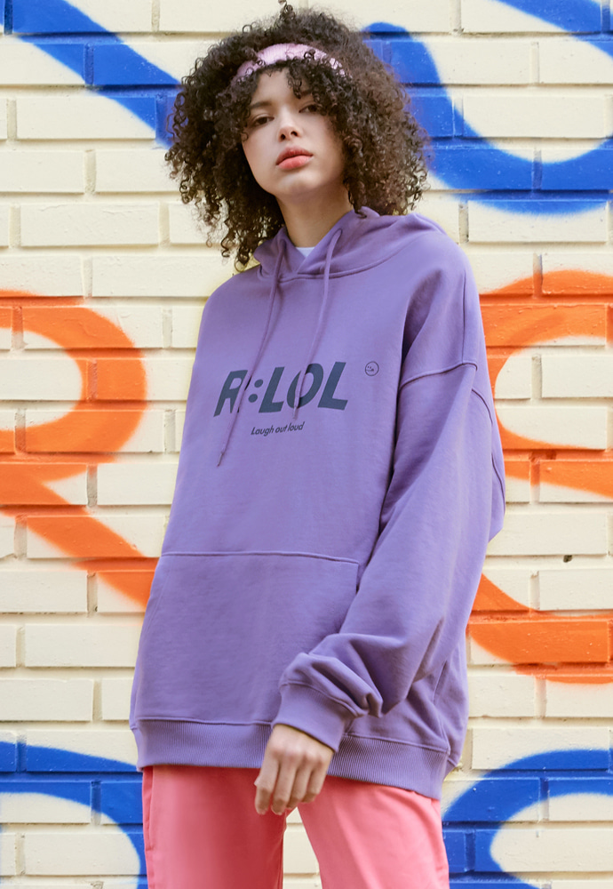 ROLAROLA로라로라 (HD-19703) R:LOL BASIC HOOD T-SHIRT LAVENDER