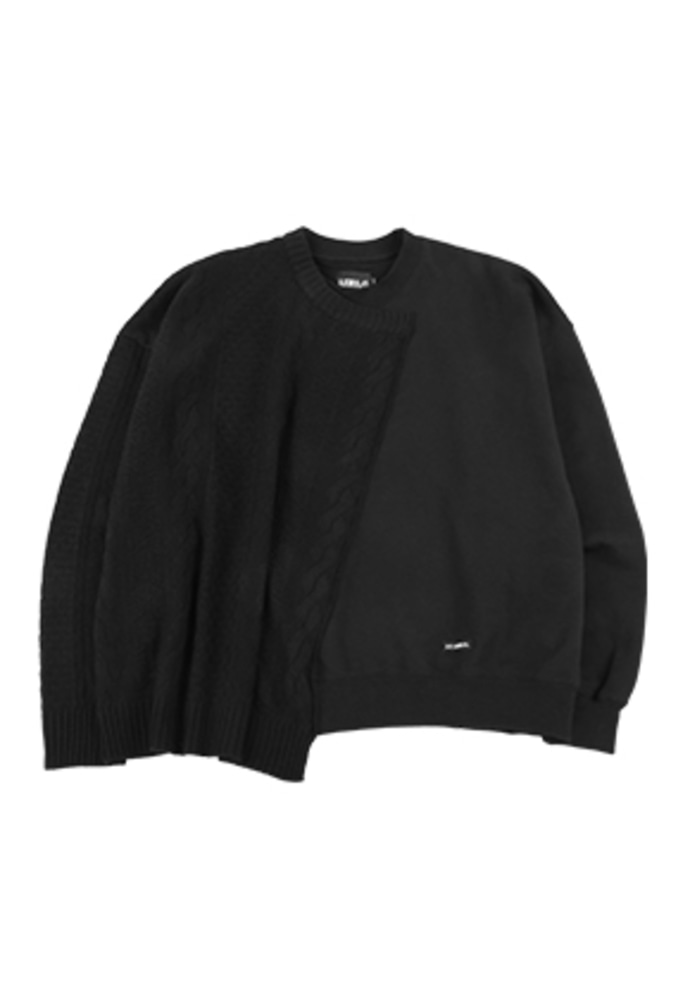 AJO BY AJO아조바이아조 Oversized Sweater and Sweatshirt [Black]