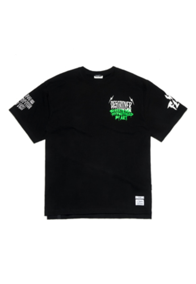 Stigma스티그마 LIGHTNING OVERSIZED T-SHIRTS BLACK