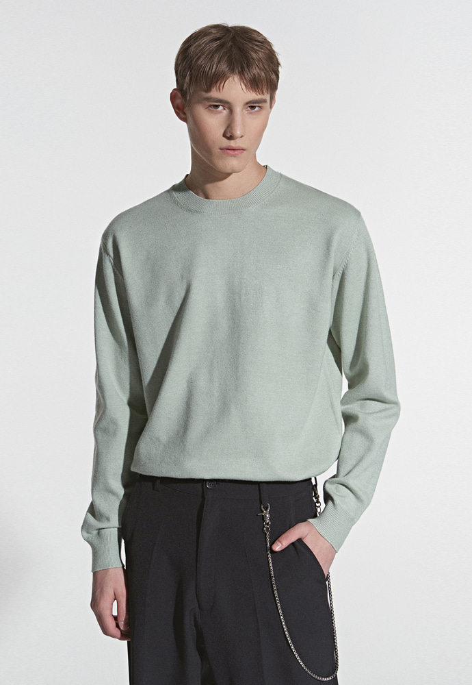 L'OEIL로에일 SOFT TOUCH SPRING KNIT_MINT