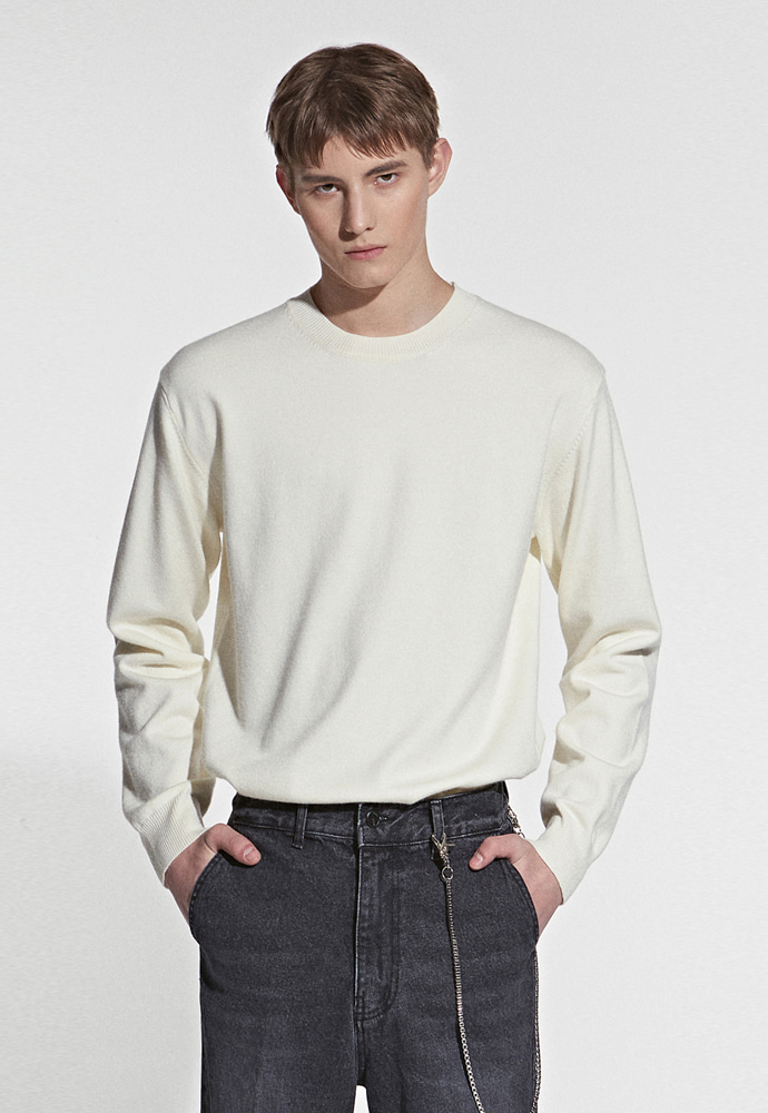L'OEIL로에일 SOFT TOUCH SPRING KNIT_IVORY