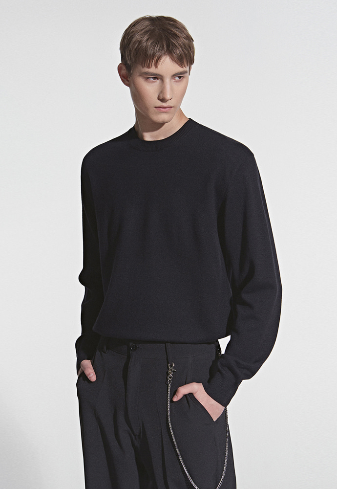 L'OEIL로에일 SOFT TOUCH SPRING KNIT_BLACK