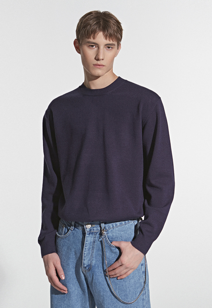 L'OEIL로에일 SOFT TOUCH SPRING KNIT_NAVY
