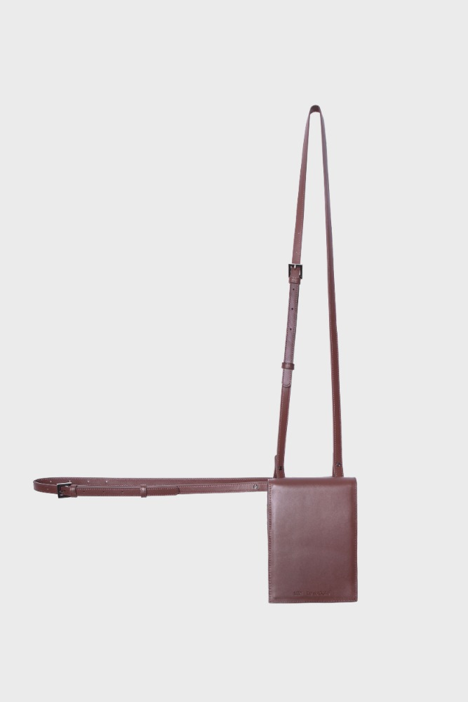 MIM THE WARDROBE밈더워드로브 3-Way Leather Mini Bag_Brown
