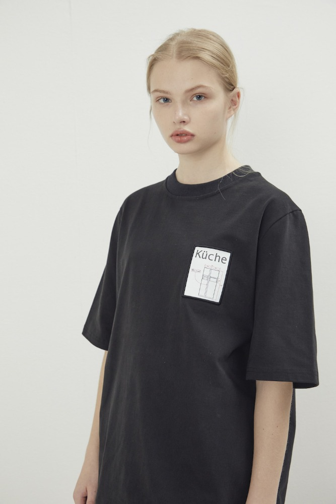 NOHANT노앙 MAISON HAUS T SHIRT BLACK
